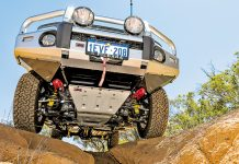 A 4wd seen from below